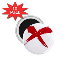 red x 1.75  Button Magnet (10 pack) by magann