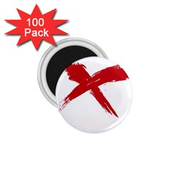 Red X 1 75  Button Magnet (100 Pack)