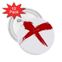 Red X 2 25  Button (10 Pack) by magann