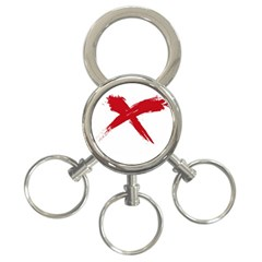 Red X 3 Ring Key Chain by magann