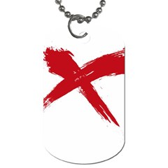 Red X Dog Tag (one Sided) by magann