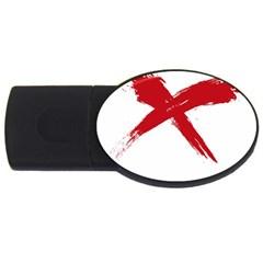 Red X 2gb Usb Flash Drive (oval)