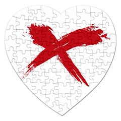 Red X Jigsaw Puzzle (heart) by magann