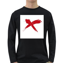 Red X Mens' Long Sleeve T Shirt (dark Colored) by magann