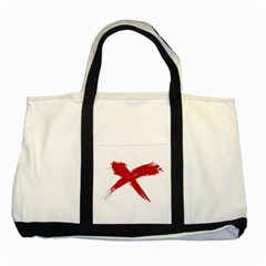 Red X Two Toned Tote Bag by magann