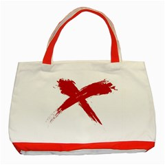 Red X Classic Tote Bag (red) by magann