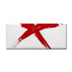 Red X Hand Towel by magann