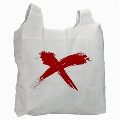 Red X Recycle Bag (one Side) by magann