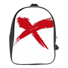 Red X School Bag (large) by magann
