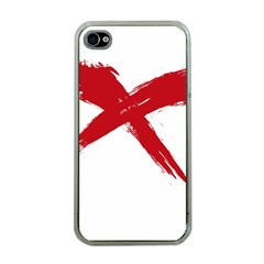 Red X Apple Iphone 4 Case (clear) by magann