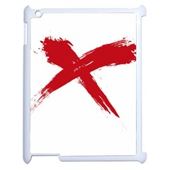Red X Apple Ipad 2 Case (white) by magann