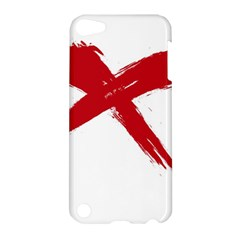 Red X Apple Ipod Touch 5 Hardshell Case by magann
