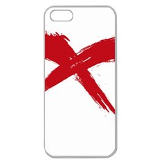 Red X Apple Seamless Iphone 5 Case (clear) by magann