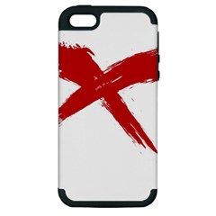 Red X Apple Iphone 5 Hardshell Case (pc+silicone)