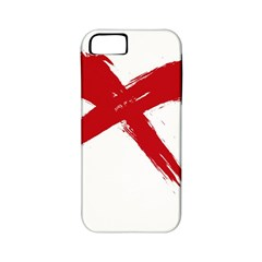 Red X Apple Iphone 5 Classic Hardshell Case (pc+silicone) by magann