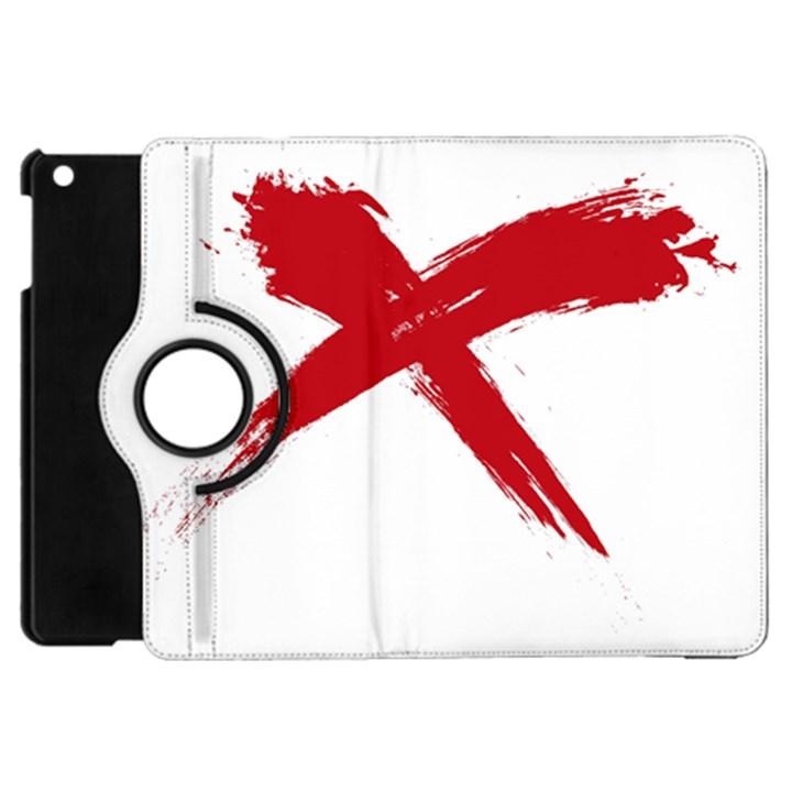 red x Apple iPad Mini Flip 360 Case