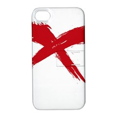 Red X Apple Iphone 4/4s Hardshell Case With Stand by magann
