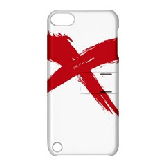 Red X Apple Ipod Touch 5 Hardshell Case With Stand by magann