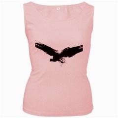 Grunge Bird Womens  Tank Top (pink) by magann