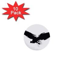 Grunge Bird 1  Mini Button (10 Pack)