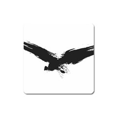 Grunge Bird Magnet (square)