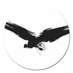Grunge Bird Magnet 5  (round) by magann