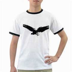 Grunge Bird Mens' Ringer T Shirt by magann