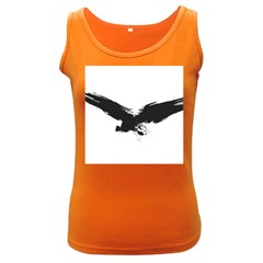 Grunge Bird Womens  Tank Top (dark Colored) by magann