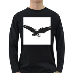 Grunge Bird Mens' Long Sleeve T Shirt (dark Colored) by magann