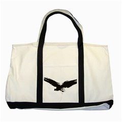 Grunge Bird Two Toned Tote Bag