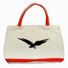 Grunge Bird Classic Tote Bag (red) by magann