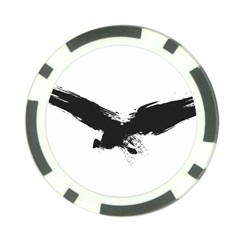 Grunge Bird Poker Chip