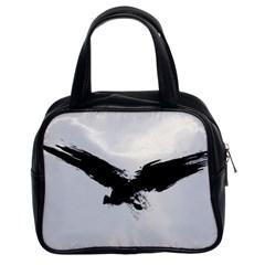 Grunge Bird Classic Handbag (two Sides)