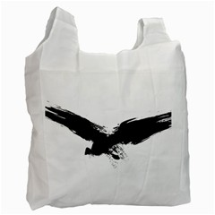 Grunge Bird Recycle Bag (two Sides) by magann