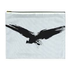 Grunge Bird Cosmetic Bag (xl) by magann