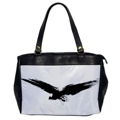 Grunge Bird Oversize Office Handbag (one Side) by magann