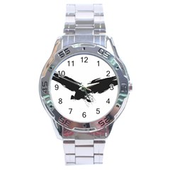 Grunge Bird Stainless Steel Watch (men s) by magann
