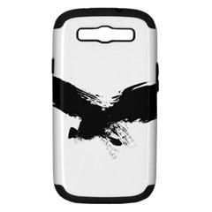 Grunge Bird Samsung Galaxy S III Hardshell Case (PC+Silicone) by magann
