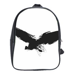 Grunge Bird School Bag (xl) by magann