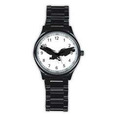 Grunge Bird Sport Metal Watch (black) by magann