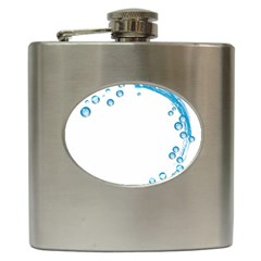 Water Swirl Hip Flask