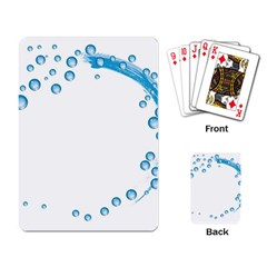 Water Swirl Playing Cards Single Design by magann