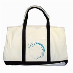 Water Swirl Two Toned Tote Bag by magann