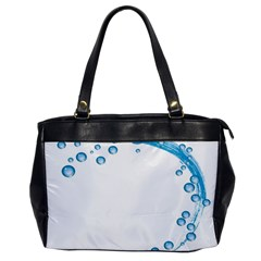Water Swirl Oversize Office Handbag (one Side) by magann