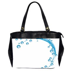 Water Swirl Oversize Office Handbag (two Sides) by magann