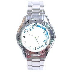 Water Swirl Stainless Steel Watch (men s) by magann