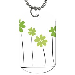 Clover Dog Tag (one Sided)
