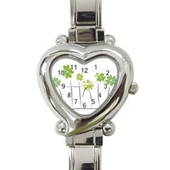 Clover Heart Italian Charm Watch