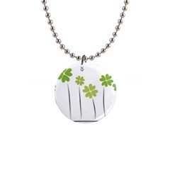 Clover Button Necklace by magann