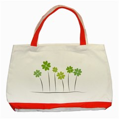 Clover Classic Tote Bag (red) by magann